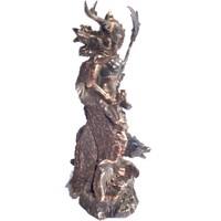 thumb-Hel Göttin der Unterwelt aus Polyresin, bronziert-3