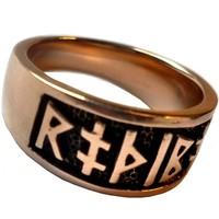 thumb-Ring mit Runen aus Bronze oder aus Silber-6