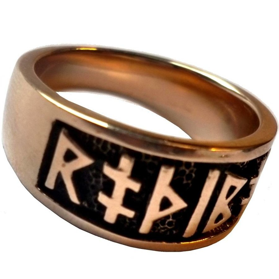 Runenring aus Bronze mit Runen-5