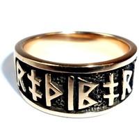 thumb-Ring mit Runen aus Bronze oder aus Silber-7