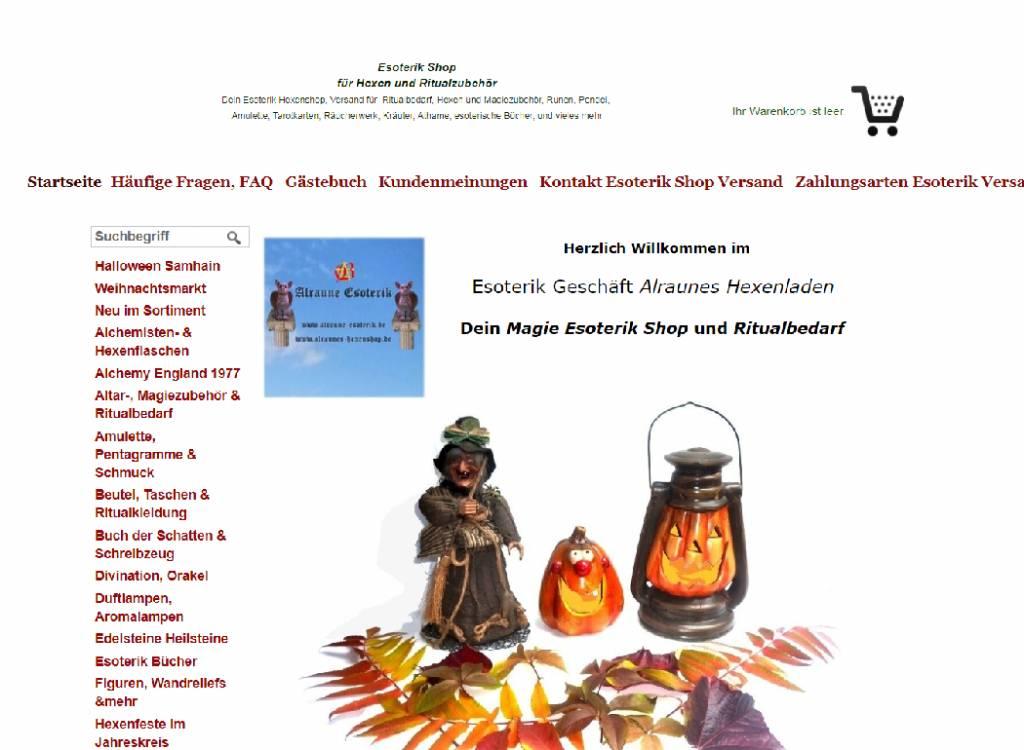 Alraunes Hexenladen: Du kannst auch aufdieser Webseitebestellen.