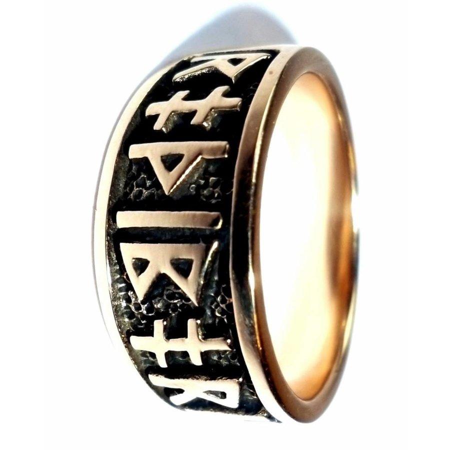 Ring mit Runen aus Bronze oder aus Silber-3