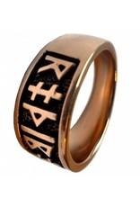 Runenring aus Bronze mit Runen des älteren Futhark