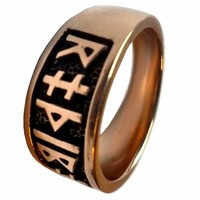 thumb-Runenring aus Bronze mit Runen des älteren Futhark-1