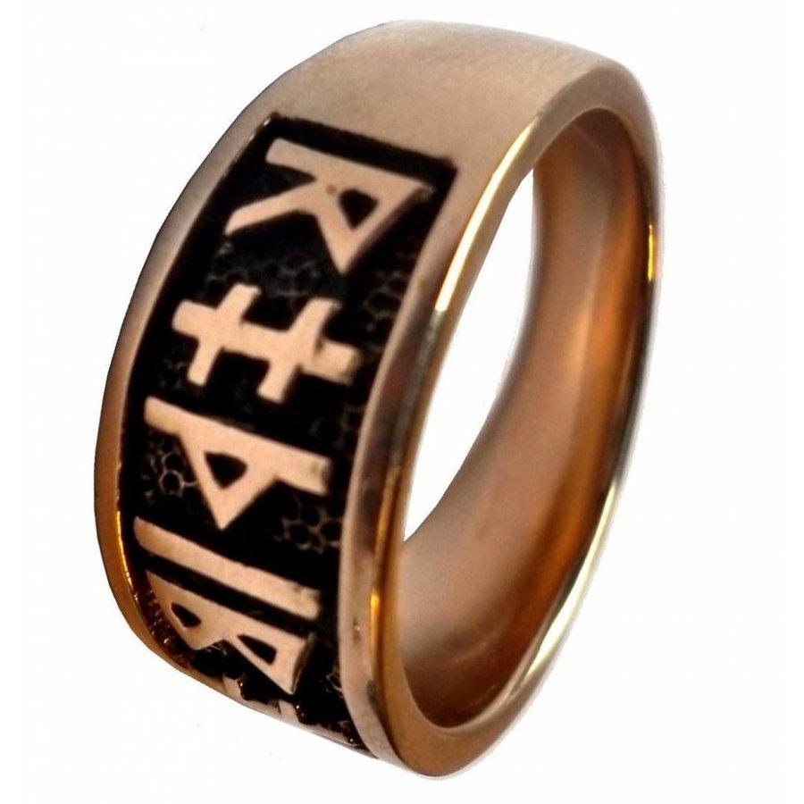 Ring mit Runen aus Bronze oder aus Silber-4