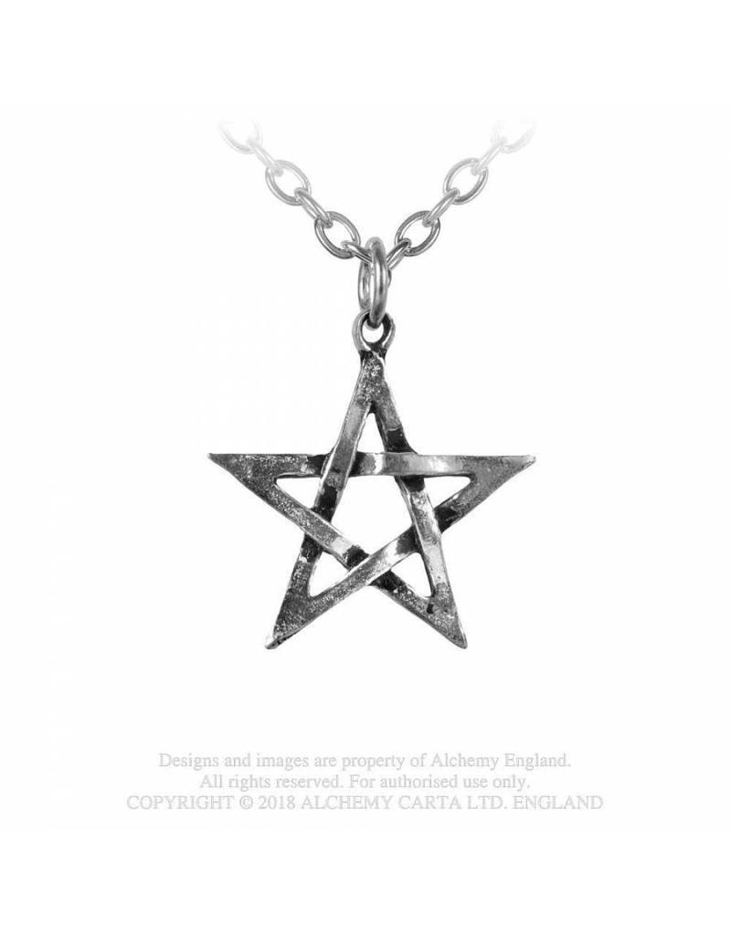 Alchemy Kettenanhänger Pentagramm aus Zinn