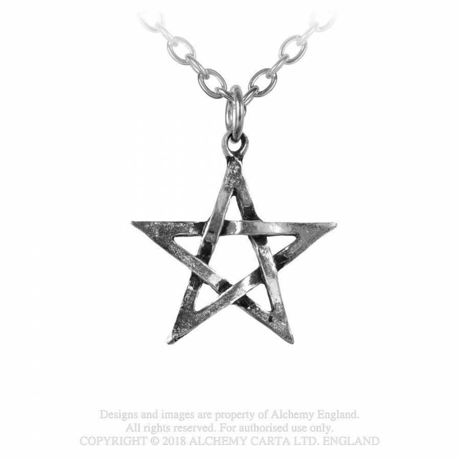 Kettenanhänger Pentagramm aus Zinn-2