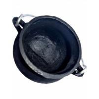 thumb-Kessel aus Gusseisen  mit Deckel und Tragegriff - klein-3