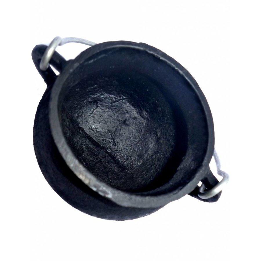 Kessel aus Gusseisen  mit Deckel und Tragegriff - klein-3