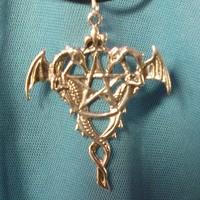 "thumb-Amulett ""Drako Pentagramm""-2"