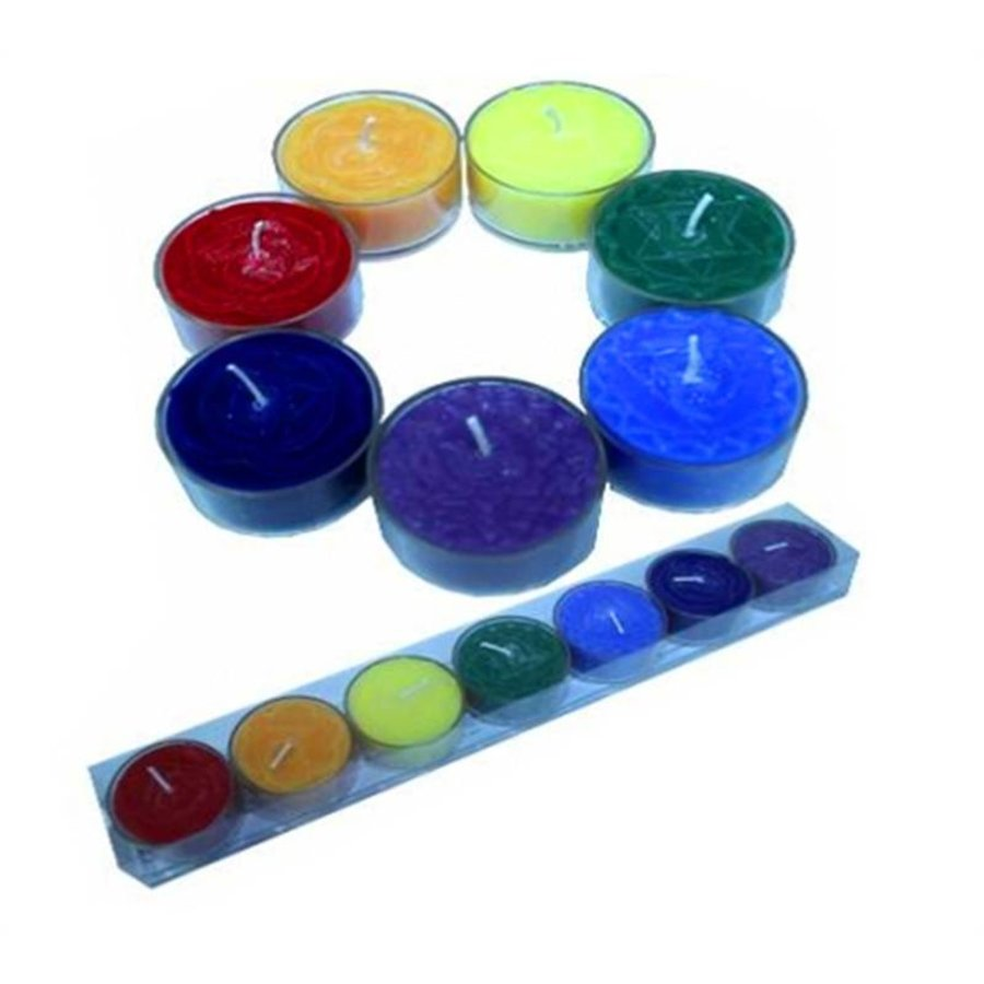 Geschenkset 7 Stück Chakra Duftteelichter-1