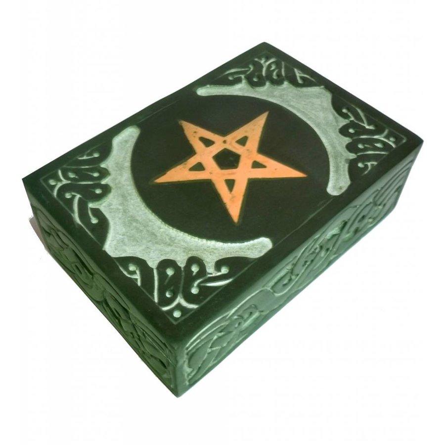 Speckstein Dose mit Pentagramm oder Triquetra-2