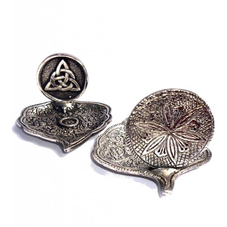 Räucherstäbchenhalter aus Metall in Blattform-3