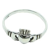 thumb-Schön gearbeiteter Claddagh Ring aus 925 Sterling Silber-2