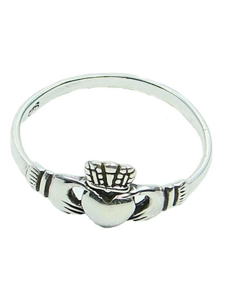 Keltisch Schön gearbeiteter Claddagh Ring aus 925 Sterling Silber