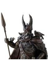 Göttin Odin, der Allvater aus Polyresin, bronziert