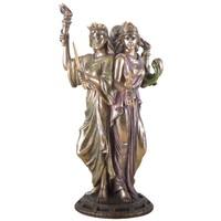 thumb-Hekate, Hexengöttin aus Polyresin, bronziert-1