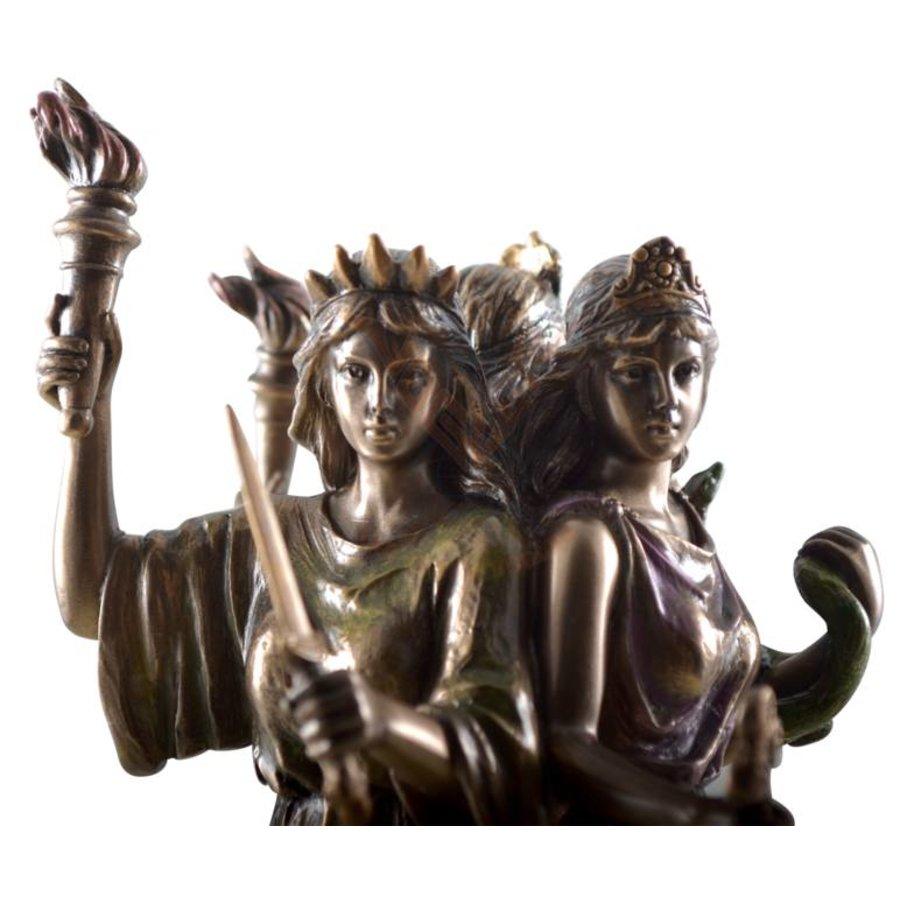 Hekate, Hexengöttin aus Polyresin, bronziert-7