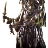 thumb-Hekate, Hexengöttin aus Polyresin, bronziert-8