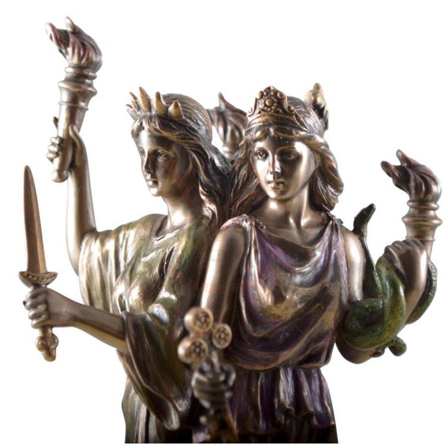 Hekate, Hexengöttin aus Polyresin, bronziert-9