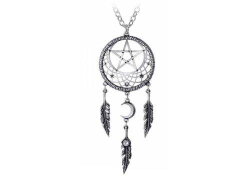 Anhänger Traumfänger mit Pentagramm