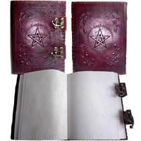 thumb-Buch der Schatten mit Ledereinband und Messingbeschlägen-6