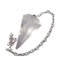 thumb-Bergkristall Pendel mit Silberkette-2