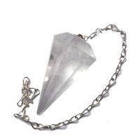 thumb-Bergkristall Pendel mit Silberkette-3