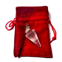 thumb-Bergkristall Pendel mit Silberkette-4