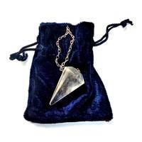 thumb-Bergkristall Pendel mit Silberkette-5