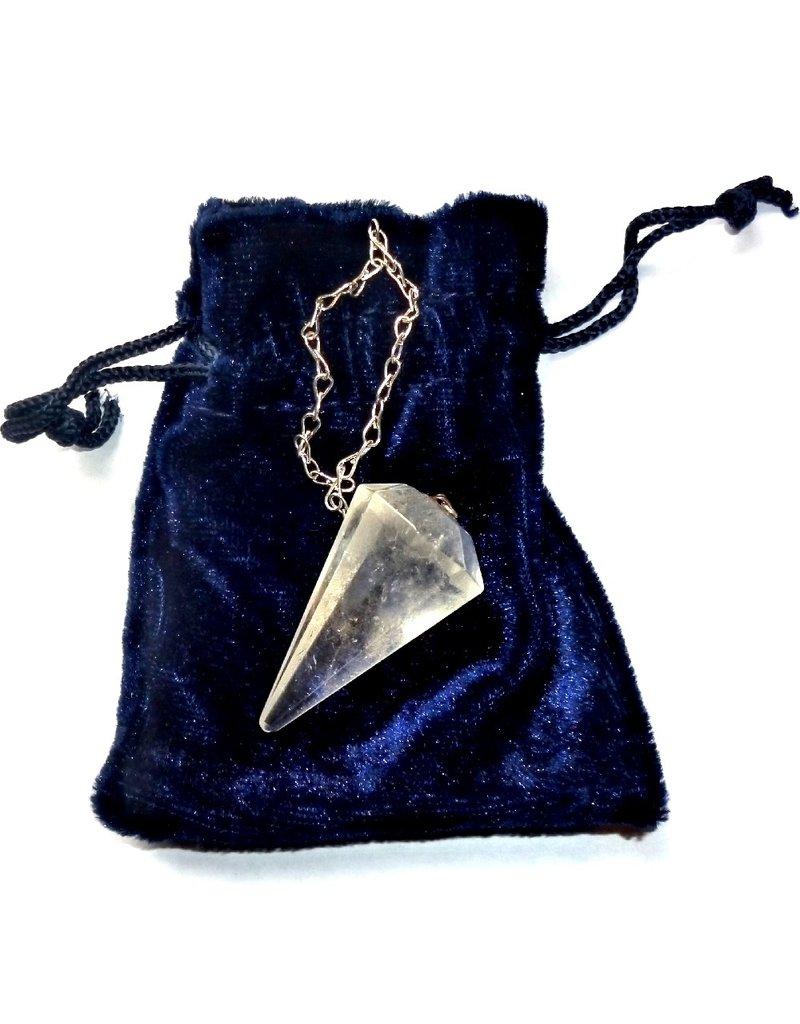 Bergkristall Pendel mit Silberkette