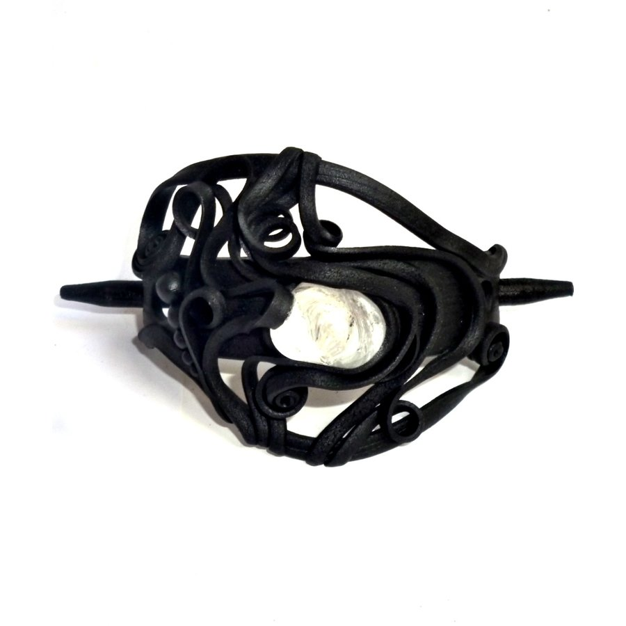 Haarclips mit Halbedelsteinen-3