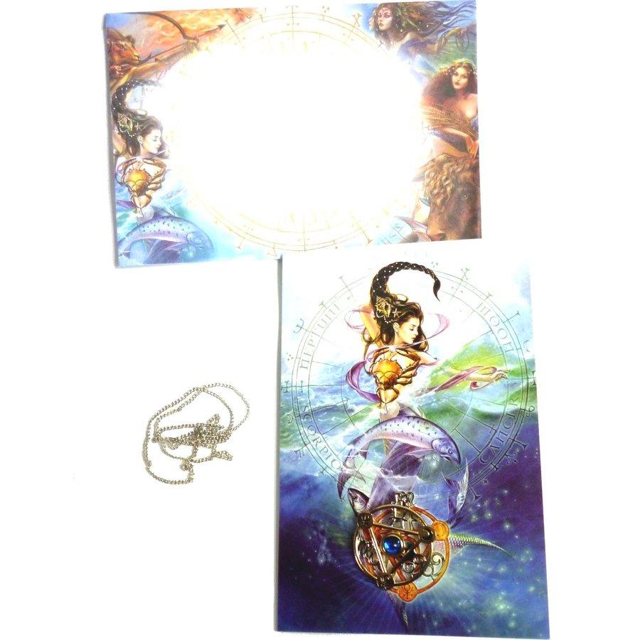 Elementtalisman mit Grußkarte und Umschlag-3