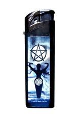 Feuerzeug mit Logo: Triple Moon, Dragon oder Goddess.