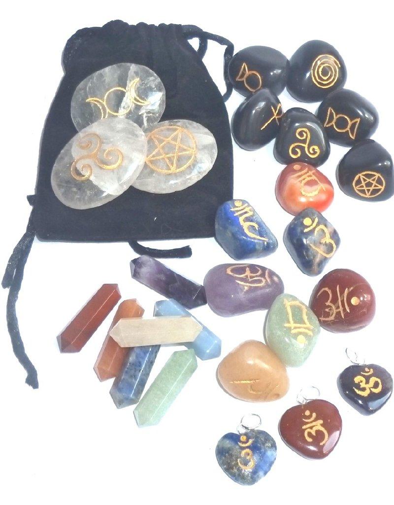 Wicca- & Chakra- Symbolsteine