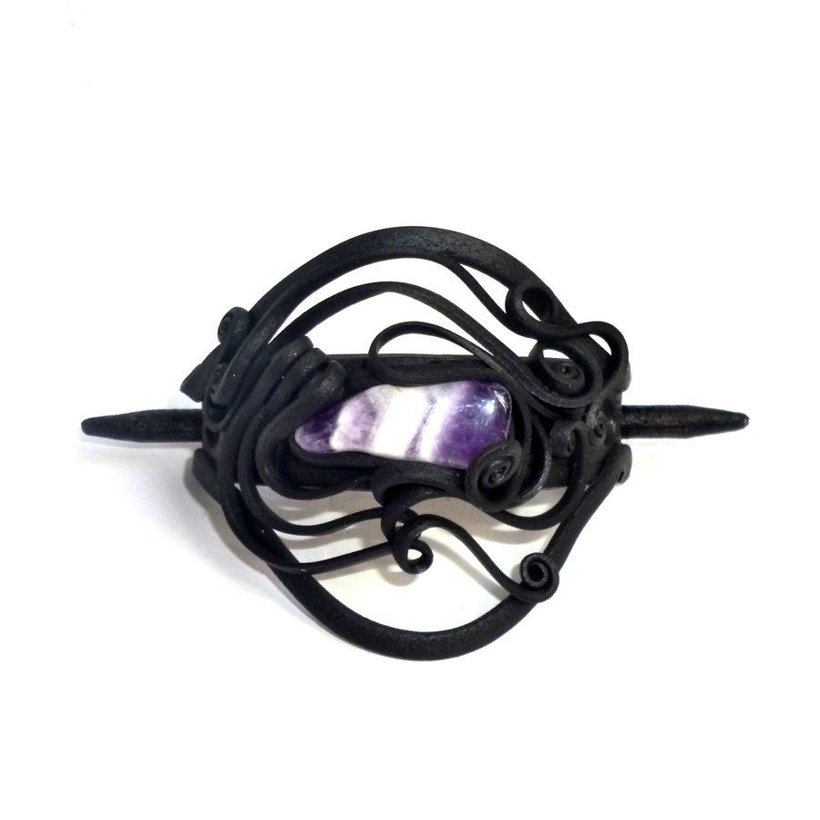 Haarclips mit Halbedelsteinen - mit Clip-1