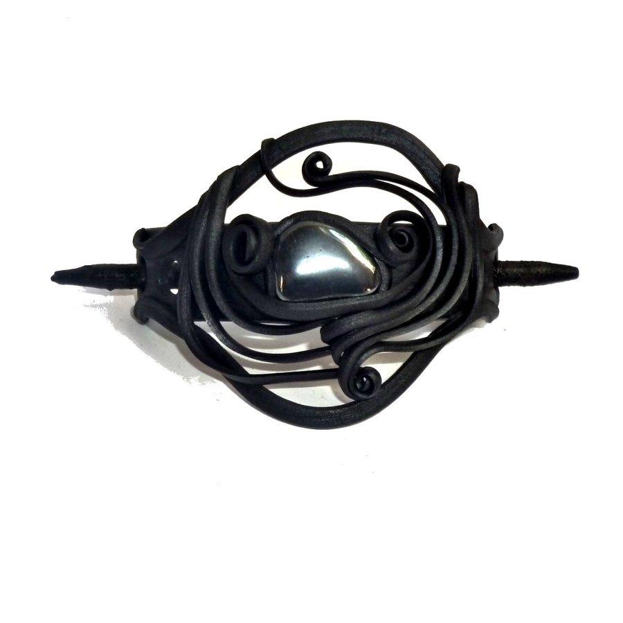 Haarclips mit Halbedelsteinen - mit Clip-3