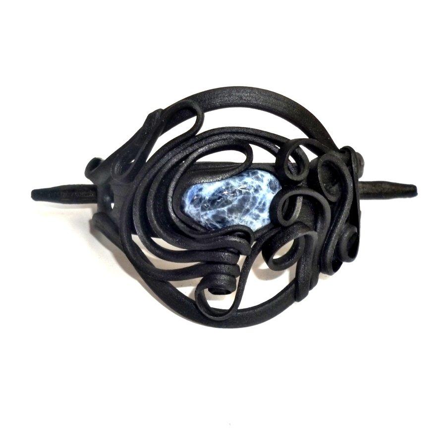 Haarclips mit Halbedelsteinen - mit Clip-5