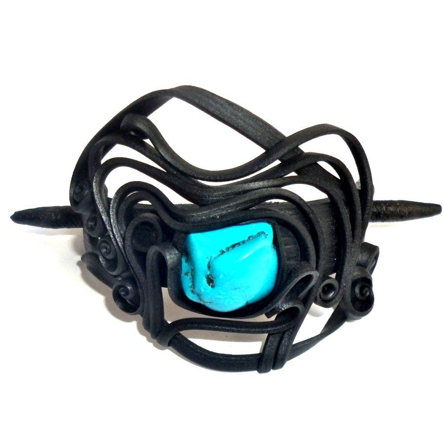 Haarclips mit Halbedelsteinen - mit Clip-7