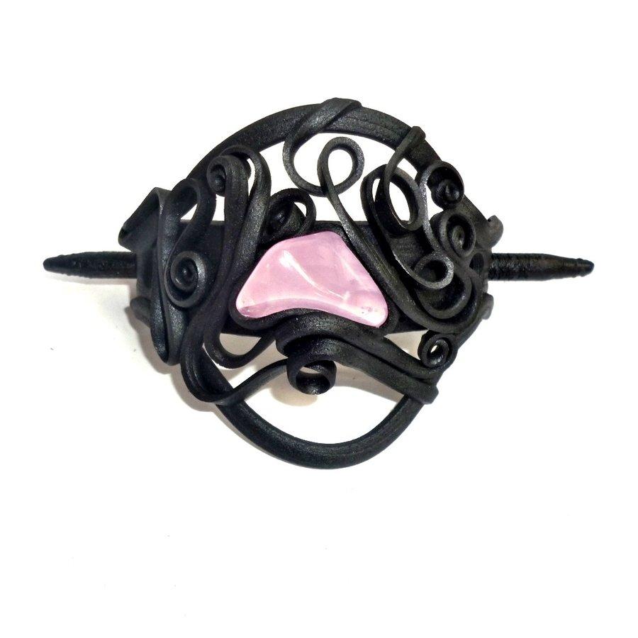Haarclips mit Halbedelsteinen - mit Clip-8