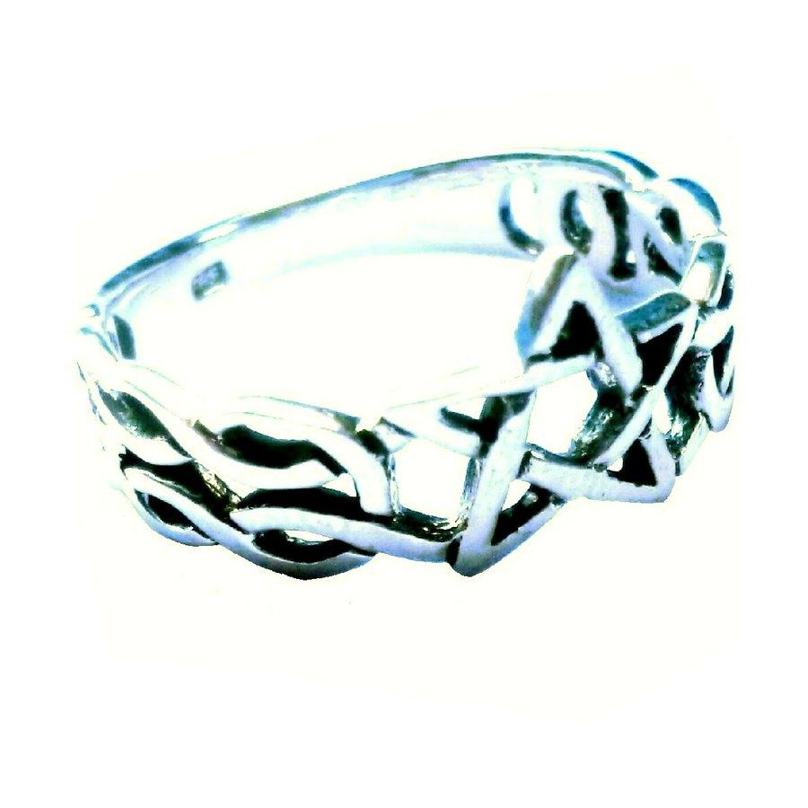 Ring mit Pentagramm, 925 Sterling Silber-1