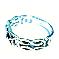 thumb-Ring mit Pentagramm, 925 Sterling Silber-4
