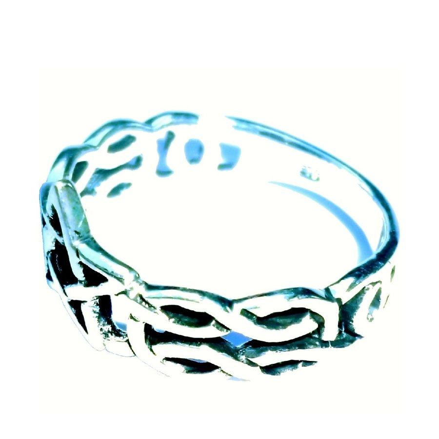 Ring mit Pentagramm, 925 Sterling Silber-4