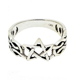 Pentagramme Silberring Pentagramm