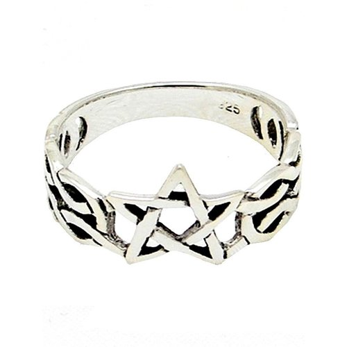 Silberring Pentagramm