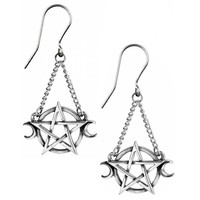 thumb-Pentagramm Ohrringe aus Zinn-2