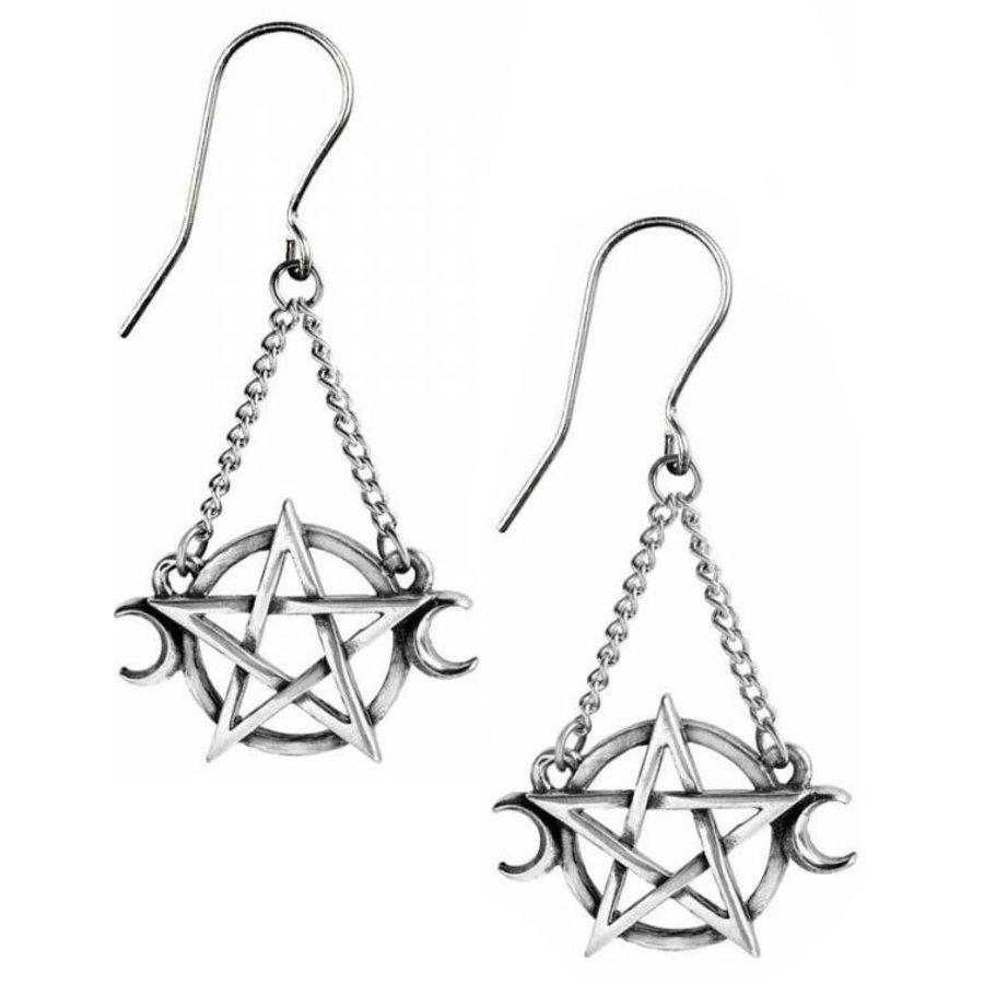 Pentagramm Ohrringe aus Zinn-2