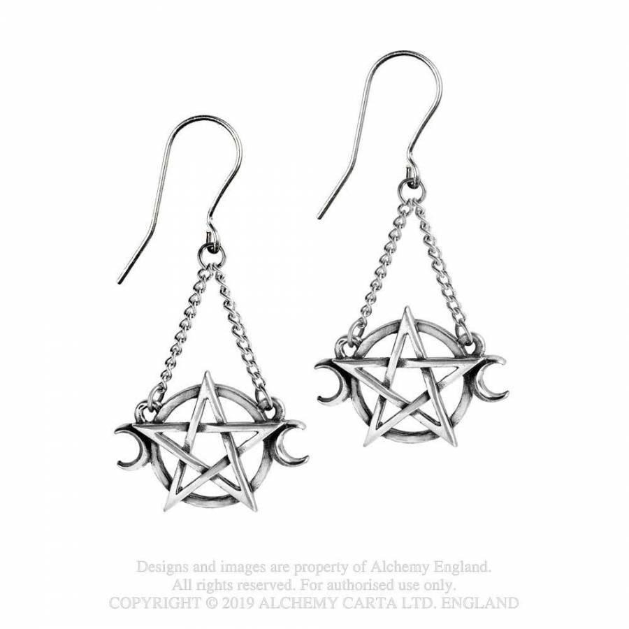 Pentagramm Ohrringe aus Zinn-1
