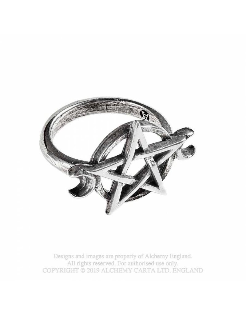 Alchemy Triple Goddess Zinn Ring