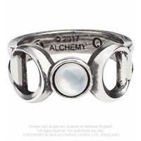 thumb-Dreifacher Mond Zinn Ring-1